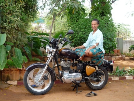 Wambui with bike 1